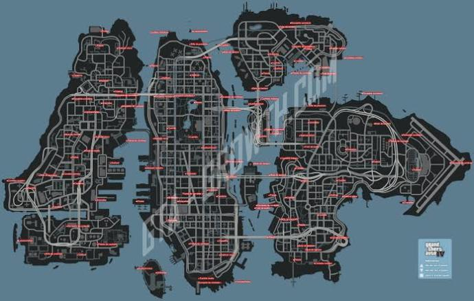 Mapa del GTA liberty city